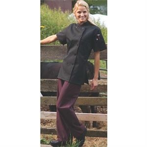 Women's Short Sleeve Chef Coat - White