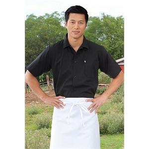 Button Utility Shirt w/ Pocket - Black, Red, Royal