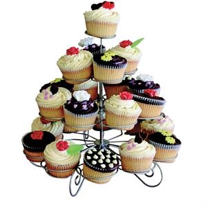 Four Tier Designer Cupcake and Muffin