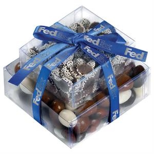 Stacked Present with Bridge Mix and Nonpareils