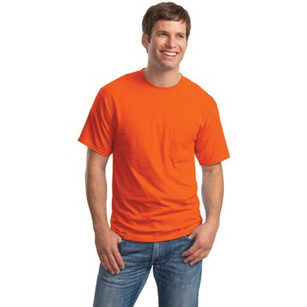 Hanes Beefy-T - 100% Cotton T-Shirt with Pocket.