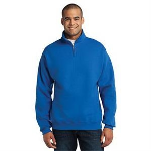 JERZEES - NuBlend 1/4-Zip Cadet Collar Sweatshirt.
