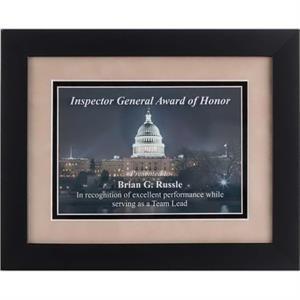 Wood Framed Award
