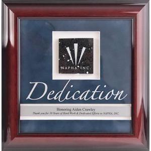Rosewood Framed Award
