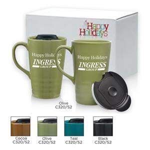 Zen Series Ceramic Mug Gift Set