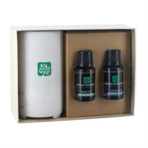 Electronic Diffuser +Two Essential Oil bottles w/ Gift Box