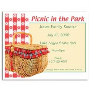 Picnic in the Park Save the Date Magnet