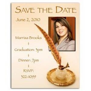 Quill Save the Date Magnet
