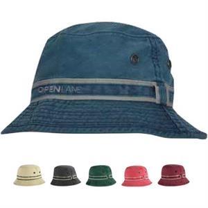 Chino Washed Brushed Cotton Twill Bucket Hat