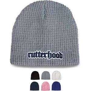 Thick Weave Waffle Knit Beanie