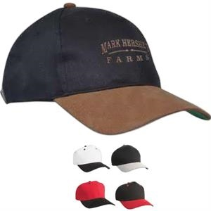 Constructed Cotton Twill Suede Bill Cap