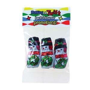 1 oz Chocolate Snowmen / Header Bag