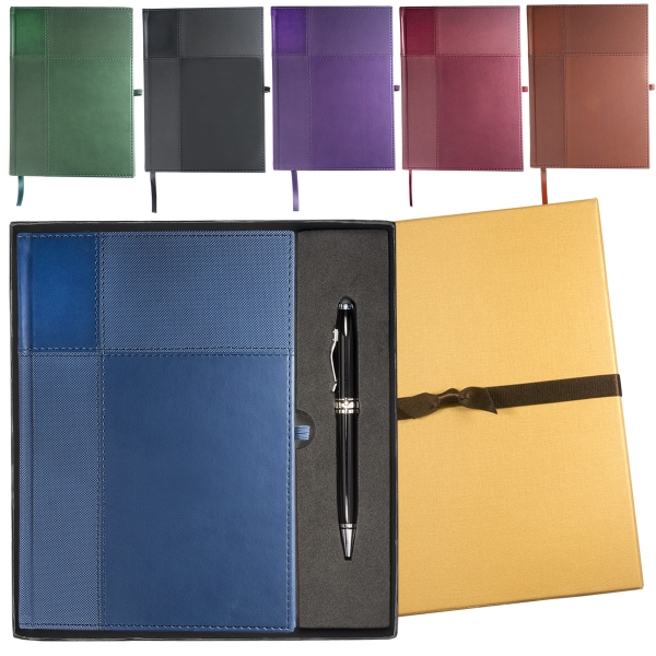 Duo-Textured Tuscany™ Journal with Executive Stylus Pen