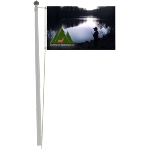Full Color Pole Flag, 5' x 8' -FREE SHIPPING