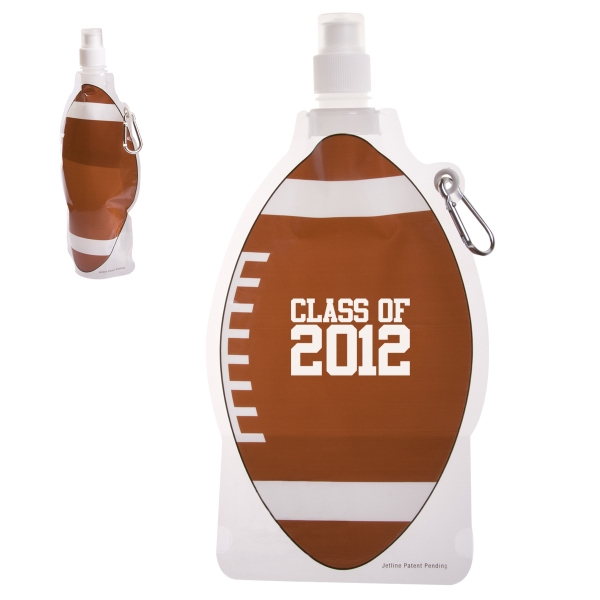 HydroPouch™ 22 oz. Football Collapsible Water Bottle