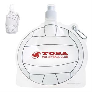 HydroPouch(TM) 24 oz. Volleyball Collapsible Water Bottle
