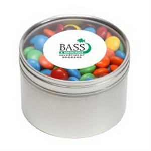 M&Ms - Plain in Large Round Window Tin