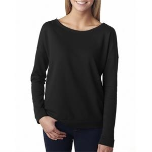 Next Level Apparel Ladies' French Terry Long-Sleeve Scoop