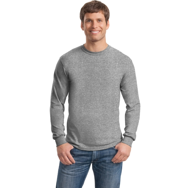 Gildan - Heavy Cotton 100% Cotton Long Sleeve T-Shirt.
