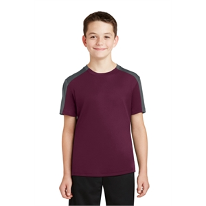 Sport-Tek Youth PosiCharge Competitor Sleeve-Blocked Tee.