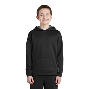 Sport-Tek Youth Sport-Wick Fleece Colorblock Hooded Pullo...