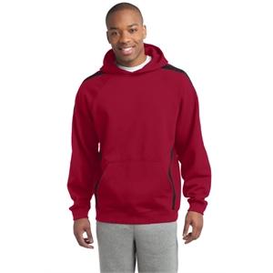 Sport-Tek Tall Sleeve Stripe Pullover Hooded Sweatshirt.