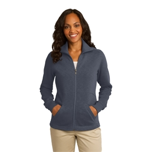Port Authority Ladies Slub Fleece Full-Zip Jacket.