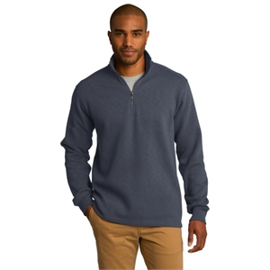 Port Authority Slub Fleece 1/4-Zip Pullover.