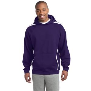 Sport-Tek Sleeve Stripe Pullover Hooded Sweatshirt.