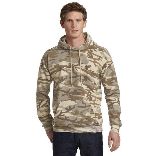 Port & Company Core Fleece Camo Pullover Hooded Sweatshirt.