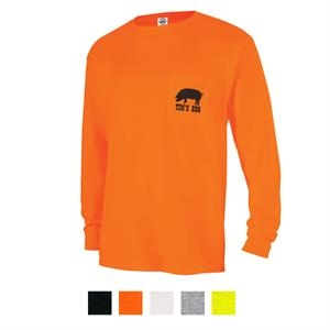 Delta (R) Magnum Weight (TM) Adult Long Sleeve Pocket Tee