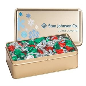Large Rectangle Tin / Hershey's® Holiday Kisses®