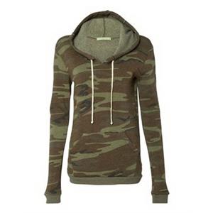 Eco-Fleece(TM) Women's Athletics Hooded Pullover