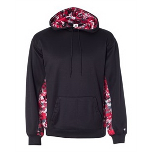 Digital Camo Colorblock Performance Fleece Hooded Sweatshirt