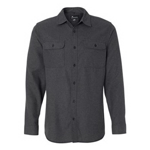 Long Sleeve Solid Flannel Shirt