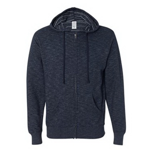 Baja Stripe French Terry Hooded Full-Zip Sweatshirt