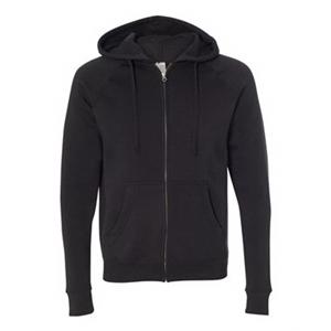 Unisex Special Blend Raglan Hooded Full-Zip Sweatshirt