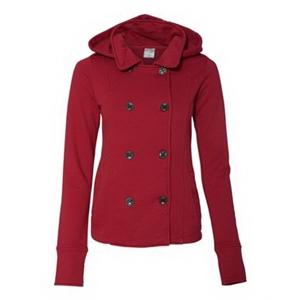 Juniors' Premium Heavy Textured Fleece Pea Coat