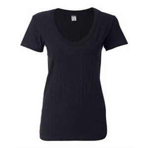Ladies' V-Neck Slub T-Shirt