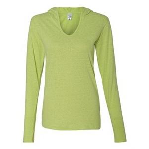 Ladies' Twisted Slub Jersey Hooded Pullover T-Shirt