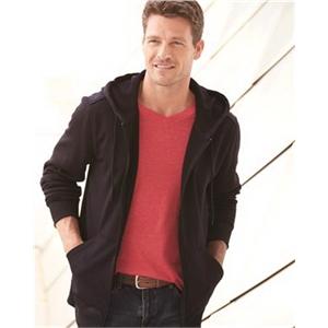 Poly Hooded Full-Zip Sweatshirt