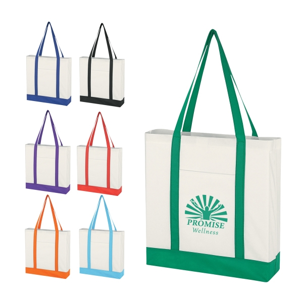 Non-Woven Tote Bag with Trim Colors
