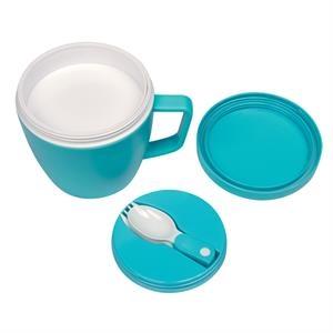 14 oz. Thermal Mug with Spoon and Fork Set