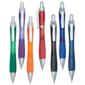 Rio Ballpoint Pen With Contoured Rubber Grip