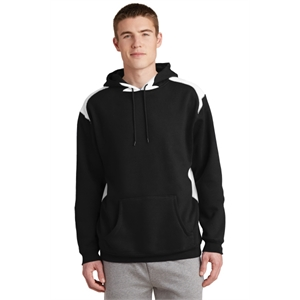 Sport-Tek Pullover Hooded Sweatshirt with Contrast Color.