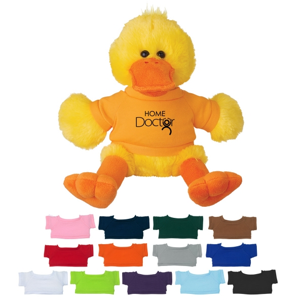 8 1/2 Plush Delightful Duck With Shirt