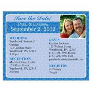 Blue Themed Save the Date Magnet