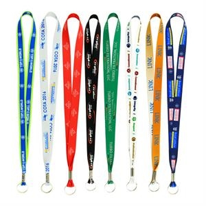 Full Color Imprint Smooth Dye Sublimation Lanyard - 3/4
