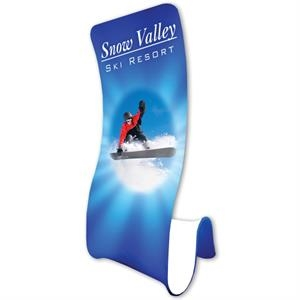 S-Curve Fabric Banner & Stand -FREE SHIPPING