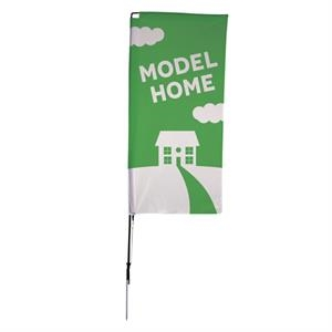 7' Streamline Rectangle Sail Sign, 2-Sided, Ground Spike